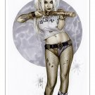 Harley Quinn Suicide Squad BW#935 - Fantasy Pinup Girl Print