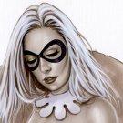 Angela Harley Quinn Bw#939 - Sexy Fantasy Pinup Girl Print