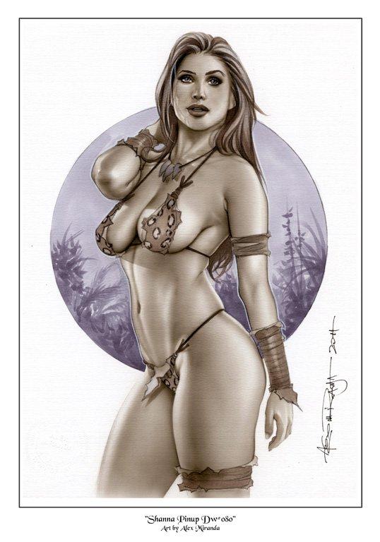 Shanna Jungle Queen Dw#080 - Fantasy Princess Pinup Girl Print