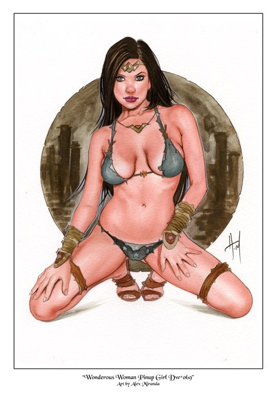Wonderous Woman Savageland Dw#069 - Sexy Princess Pinup Girl Print
