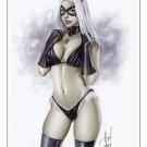 Hot Black Kitty Dw#221 - Sexy Black Cat Pinup Girl Print