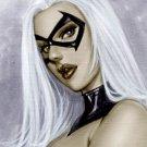 BLACK CAT DW#255 SEXY ORIGINAL PINUP GIRL ART