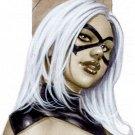 BLACK CAT DW#254 SEXY ORIGINAL PINUP GIRL ART