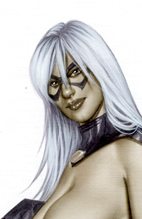 BLACK CAT DW#253 SEXY ORIGINAL PINUP GIRL ART