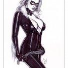 Black Cat Dw#019 - Fantasy Pinup Girl Prints