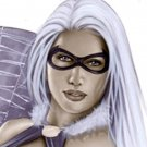 Black Cat  Dw#086 - Fantasy Pinup Girl Prints