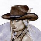 Brenda Cowgirl Dw#097 - Fantasy Pinup Girl Prints