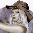 Emma Cowgirl - Dw#098 - Fantasy Pinup Girl Print