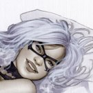 Black Cat  Dw#128 - Fantasy Pinup Girl Prints