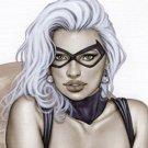 Black Cat  Dw#138 - Fantasy Pinup Girl Prints