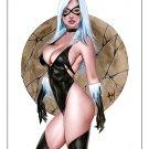 Hot Black Cat  Dw#477 - Fantasy Pinup Girl Prints