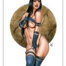 """12x16,5"""" Psylocke Dw#463 - Fantasy Pinup Girl Prints"""