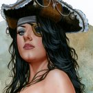 "12x16,5"" Hot Cowgirl Dw#512 - Wild West Fantasy Pinup Girl Prints"