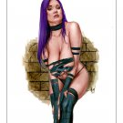 "12x16,5"" `Psylocke  Dw#514 - Black Cat Fantasy Pinup Girl Prints"