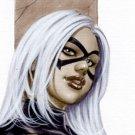 Hot Black Kitty Dw#254 - Sexy Black Cat Pinup Girl Print