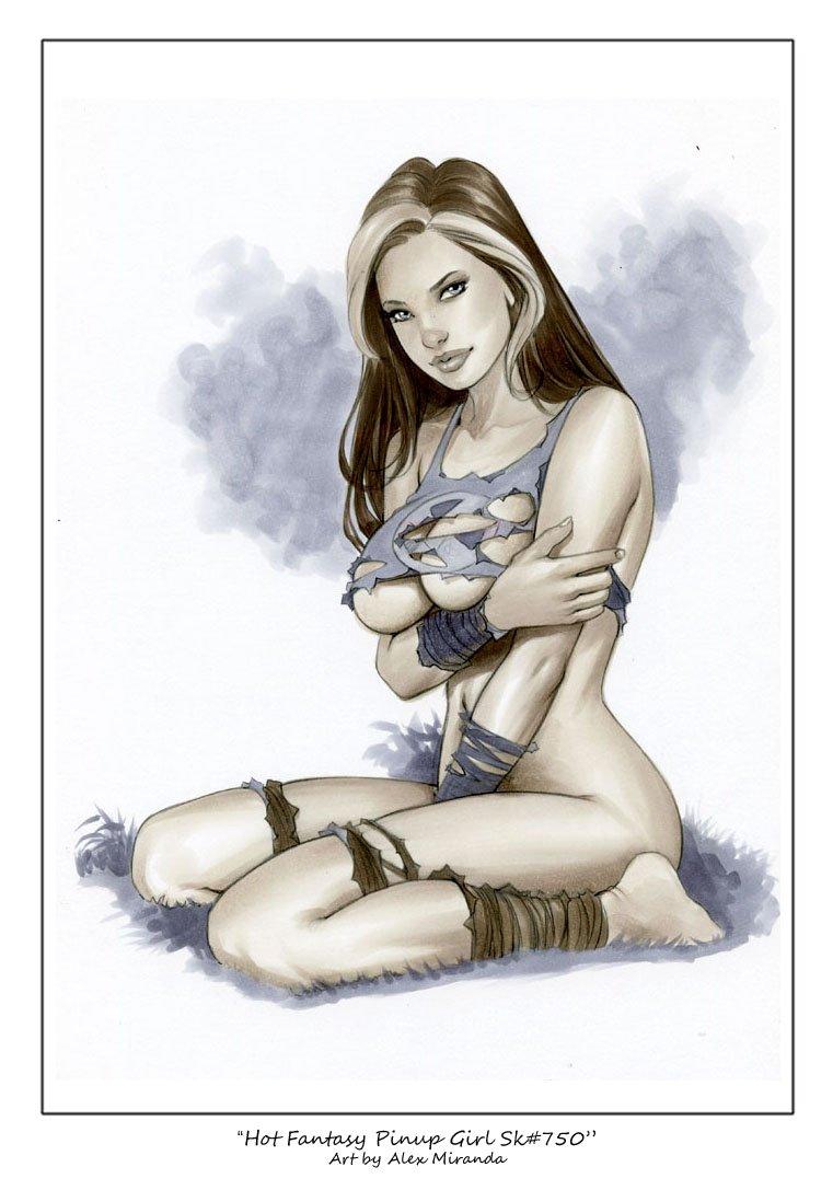 Hot Rogue  Sk#750 X-men Fantasy Pinup Girl Prints