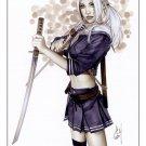 Babydoll Sucker Punch Bw#748 - Fantasy Pinup Girl Print by Alex Miranda