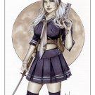 Babydoll Sucker Punch Bw#756 - Fantasy Pinup Girl Print by Alex Miranda