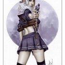 Babydoll Sucker Punch Dw#056 - Fantasy Pinup Girl Print by Alex Miranda