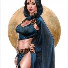 HOT RAVEN TITANS  DW#479 DC HEROES FANTASY  ORIGINAL PINUP GIRL ART
