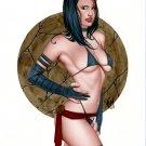 HOT PSYLOCKE  DW#488 X-MEN FANTASY  ORIGINAL PINUP GIRL ART