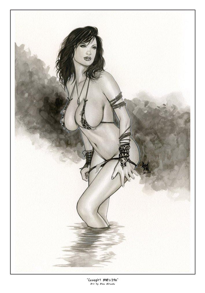 CaveGirl   Nw#296 - Fantasy Pinup Girl Prints