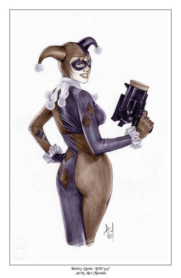 Hot Harley Quinn  Elf  Bw#457 - Fantasy Pinup Girl Print