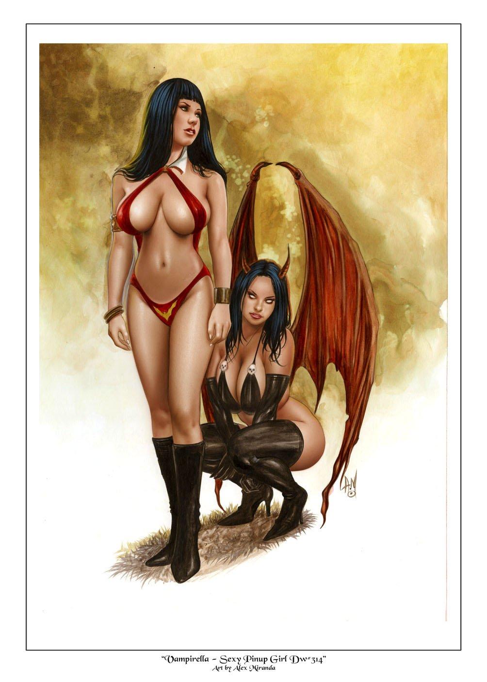 Hot  Vampirella   Dw#314 - Fantasy Pinup Girl Print
