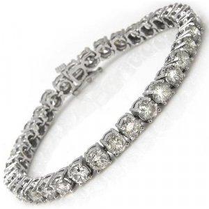 Briolite 6 Carat Tennis Bracelet in solid 14k white gold