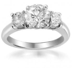 2 Carat Briolite Past Present Future Ring
