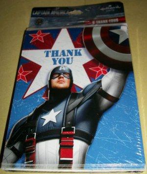 Captain America Birthday Party 8 Thank You Cards New Mip Hallmark