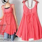 Cute Empire Dress Orange Red