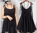 Cute empire Dress BLACK