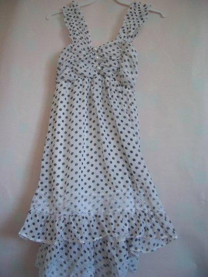 White Pokka dot Dress