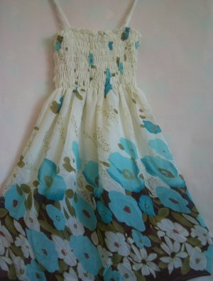 Floral BLUE tube Dress