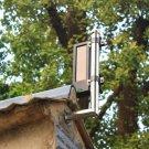Solar powered wireless active infrared detector 2-beam security sensor