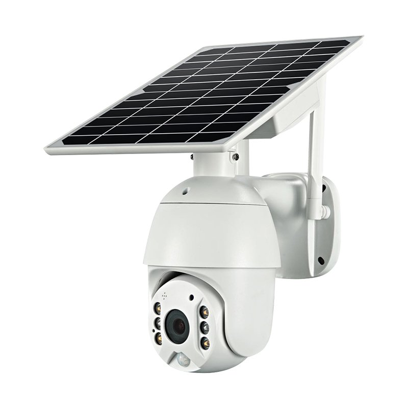 Solar outdoor CCTV dome PTZ camera i-Cam app
