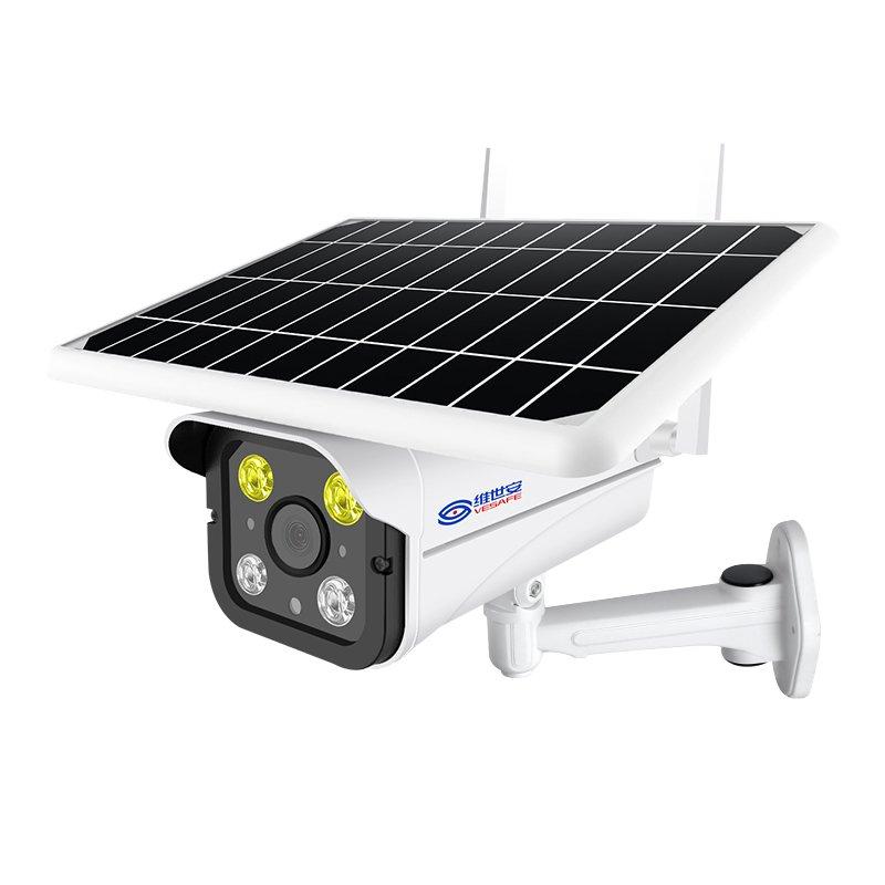 Solar 4G Wifi bullet camera outdoor CCTV burglar alarm Tuya app