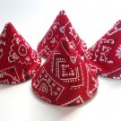 Pee Wee Tinkle Tents / Diaper Bag Accessory / Boy Baby Shower Gift / Set of 4 / Red Bandana