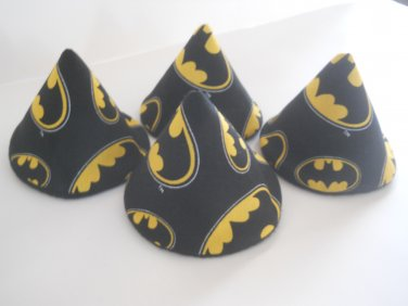 Pee Wee Tinkle Tents / Diaper Bag Accessory / Boy Baby Shower Gift / Set of 4 / BATMAN