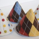 Pee Wee Tinkle Tents / Diaper Bag Accessory / Boy Baby Shower Gift / BOY ARGYLE POLKA DOTS