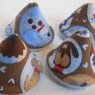 Pee Wee Tinkle Tents / Diaper Bag Accessory / Boy Baby Shower Gift / Set of 4 / OL ROY PUPPY