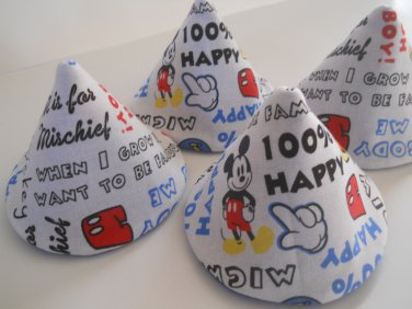 Pee Wee Tinkle Tents / Diaper Bag Accessory / Boy Baby Shower Gift / Set of 4 / MICKEY MOUSE WORDS