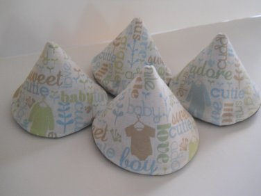 Pee Wee Tinkle Tents / Diaper Bag Accessory / Boy Baby Shower Gift / Set of 4 / SWEET BABY