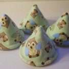 Pee Wee Tinkle Tents / Diaper Bag Accessory / Boy Baby Shower Gift / Set of 4 / CUTE PLAID OWLS