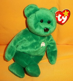 """1997 Plush Stuffed Collectible Erin Ty Beanie Baby® w/Star w/Pink Seal # 400 8"""""""