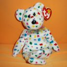 "2000 Happy New Millennium 8 .5"" Plush Stuffed Toy Ty 2K ™"
