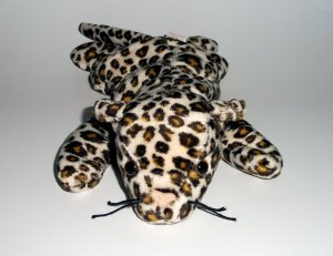 """1996 Freckles 9"""" Plush Stuffed The Beanie Babies Collection® w/star w/pink seal #12 by Ty"""
