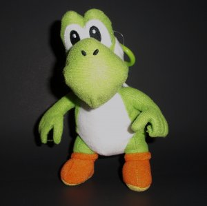 "7"" Nintendo Yoshi Green Plush Dinosaur Clip-on Key Collectible 2010"