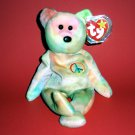 """1996 Peace The Beanie Babies Collection®  w/star w/seal pink #102 8.5"""" from Ty Stuffed Toy"""